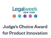 LegalWeek-Judge's Choice award